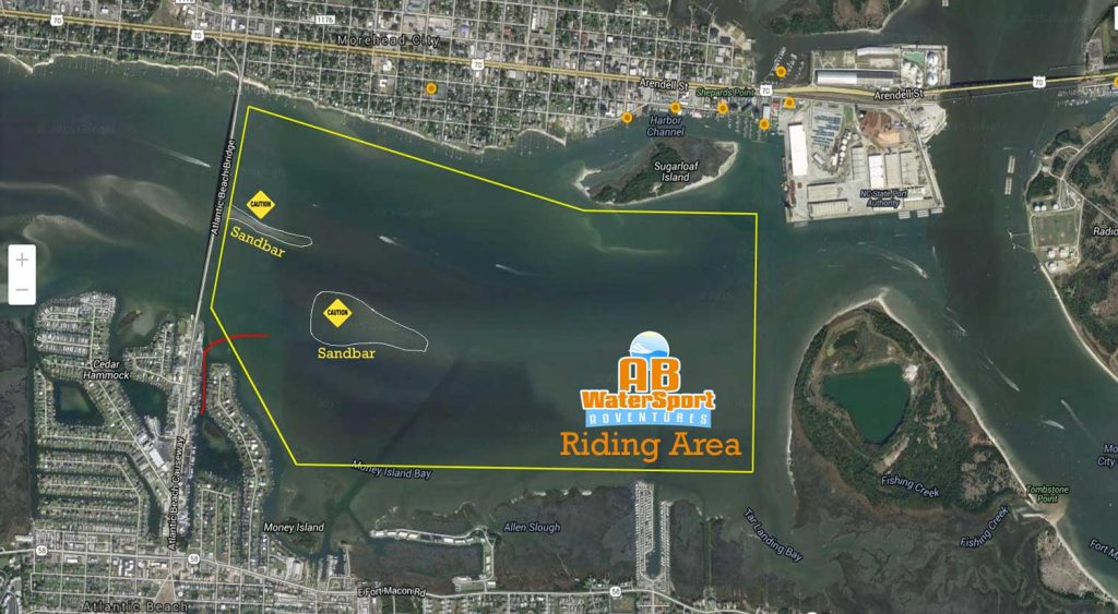 AB Watersports Riding Area for jet skis